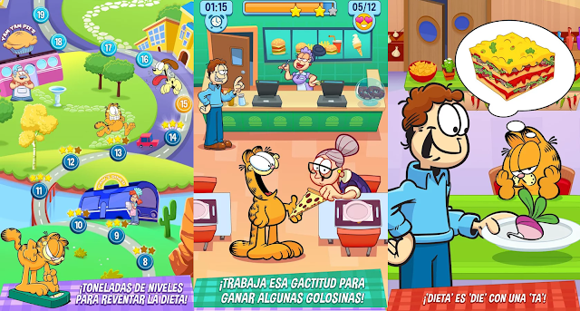 Garfield: Mi GRAN dieta GORDA v1.0.11 Apk Mod [Dinero]