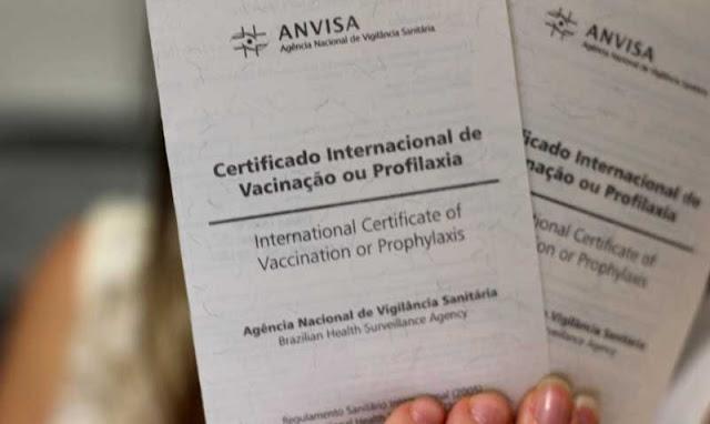Certificado de vacinação para a Califórnia