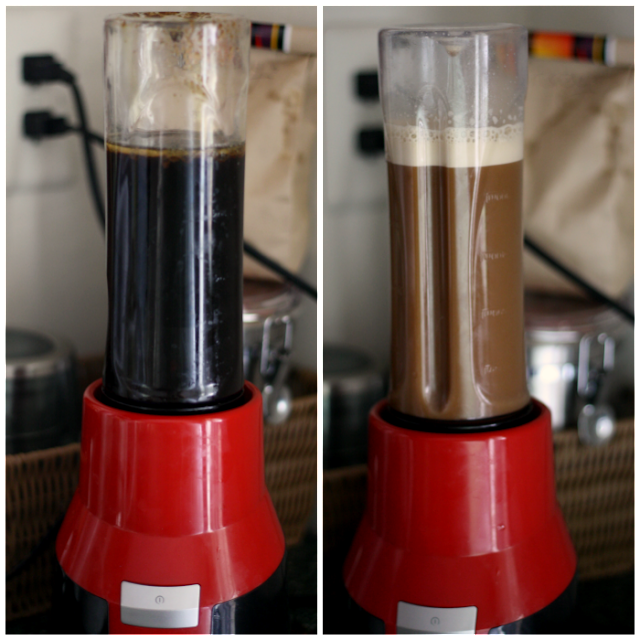 1 simple step to making Blended Coconut Oil Coffee