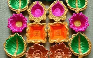 Handmade painted Diyas