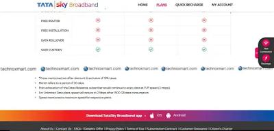 tata sky broadband unlimited plans 1500gb fup