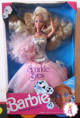 Коробка с куклой барби NRFB Barbie Sparkle Eyes