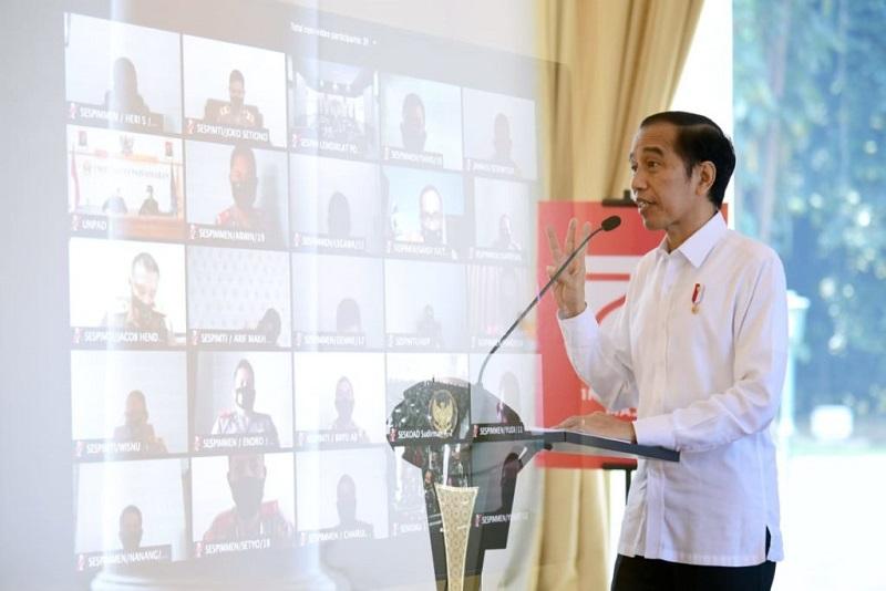 Presiden Dorong para Siswa Perwira TNI-Polri Buat Terobosan