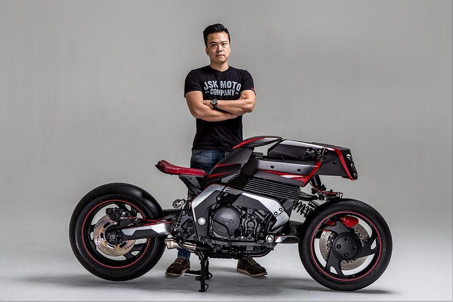Modifikasi Motor Yamaha gaya Cafe Racer Modern