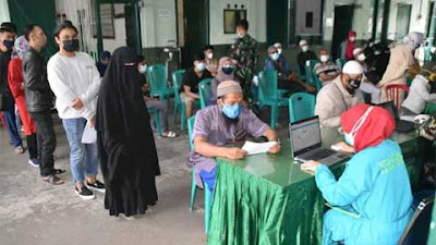 Vaksinasi Kodim Wonosobo Diikuti Semua Lapisan Masyarakat