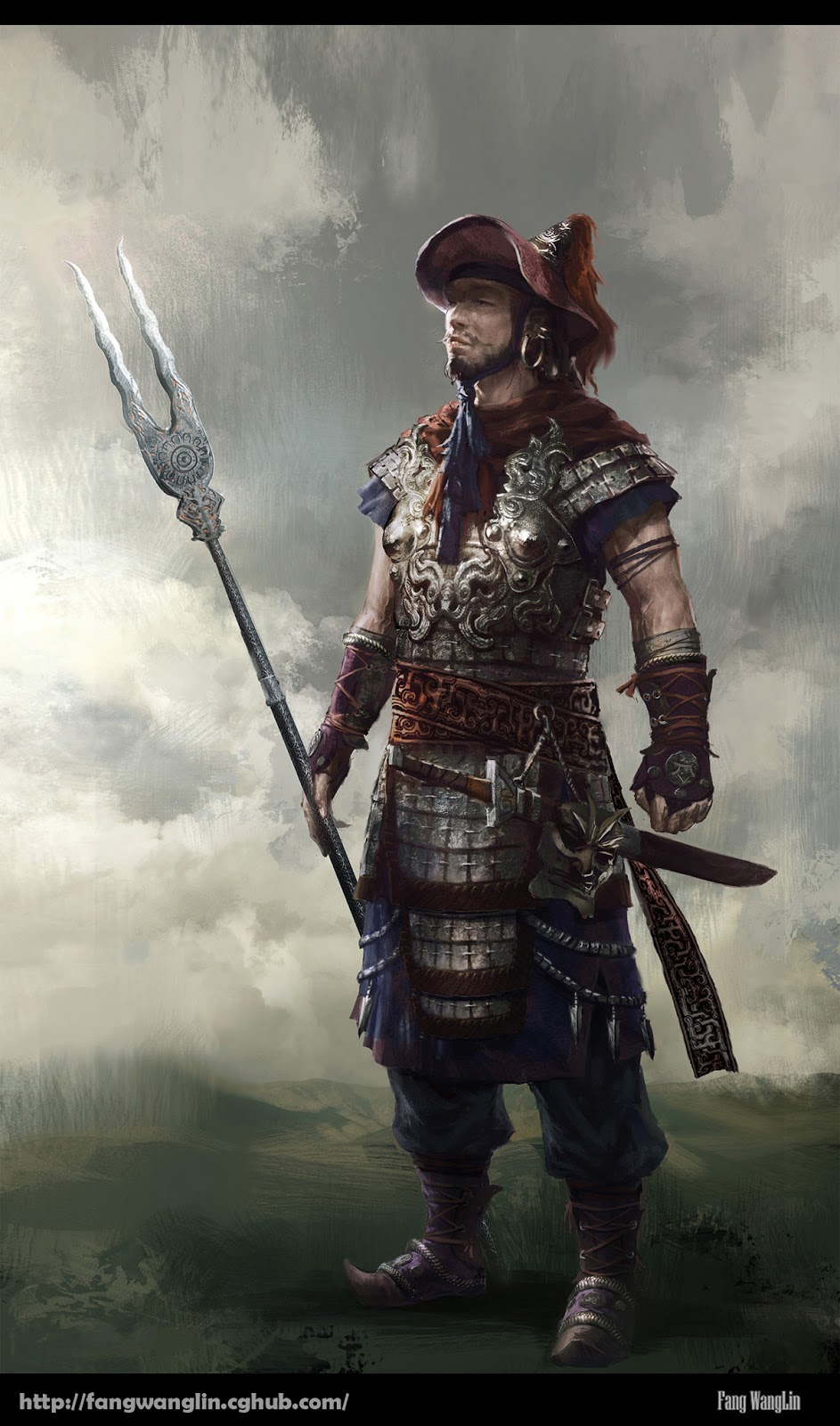 Warriors in art: Chinese ancient warrior by Wanglin Fang
