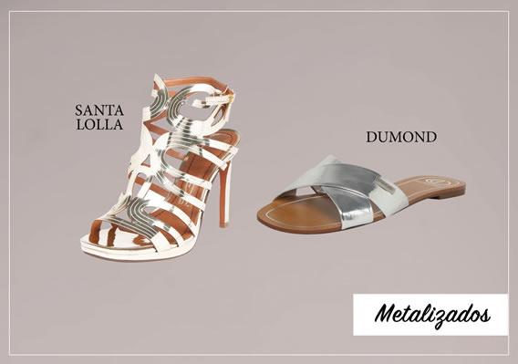 Metalizados para calçados de Verão 2017