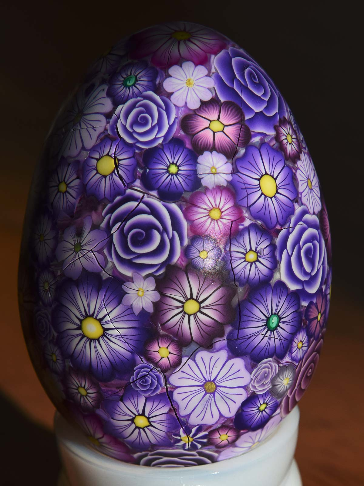 Polymer Clay Purple Egg