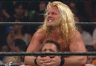 WWE / WWF Wrestlemania 2000 - Chris Jericho hurts Chris Benoit
