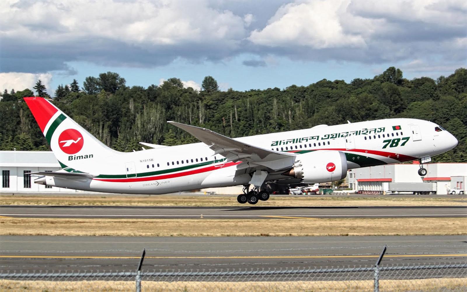 b787-8 biman bangladesh airlines takeoff
