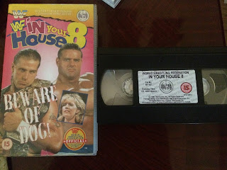 WWF / WWE - IN YOUR HOUSE 8 - BEWARE OF DOG - Original VHS video cassette