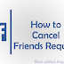 Cancel Friend Request on Facebook