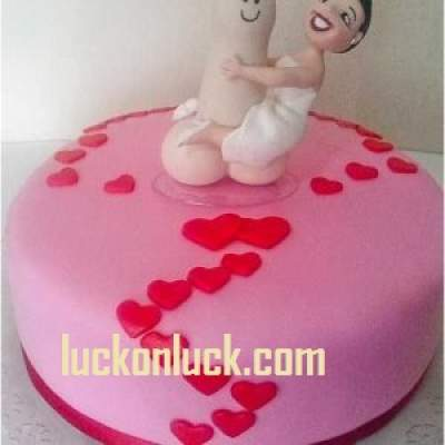 HEN Nights Bachelorette Party Idea with a Penis Cake for Bride to be
