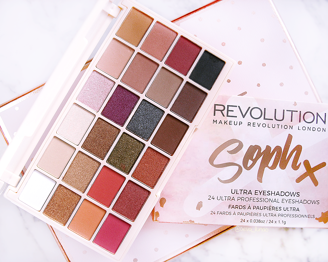 Makeup Revolution - Soph X eyeshadow palette - make-up looks - review swatch
