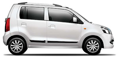 Maruti Suzuki Wagon R White side view Hd Image