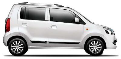 Maruti Suzuki Wagon R White side view Hd Image