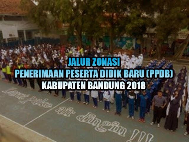 Jalur Zonasi PPDB Kabupaten Bandung 2018