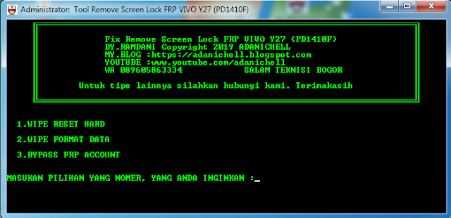 Fix Unlock Pola Password Vivo Y27 (PD1410F)