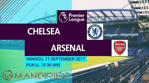ketika menjamu Arsenal pada laga lanjutan Premier League  Berita Terhangat Prediksi Bola : Chelsea Vs Arsenal , Minggu 17 September 2017 Pukul 19.30 WIB @ MNCTV