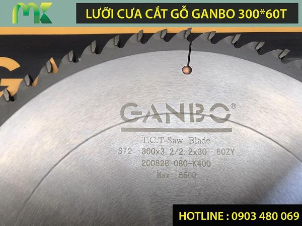 Lưỡi cưa cắt gỗ tự nhiên GANBO 300x60T