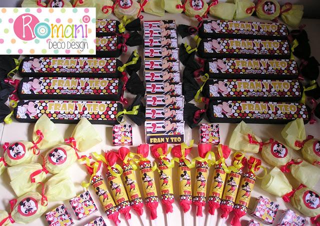 Golosinas Personalizadas de Mickey Mouse