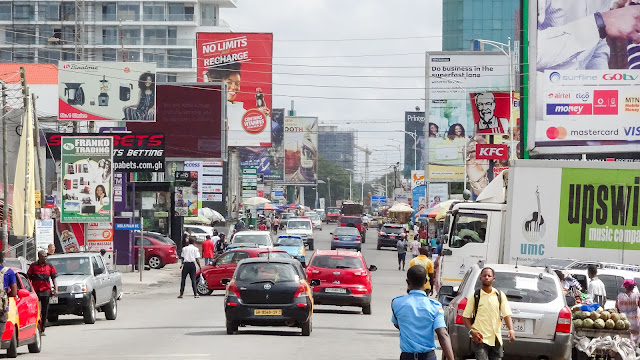 Oxford street is my base camp for my visit in Accra