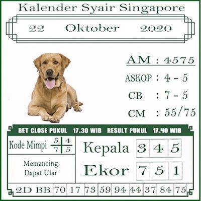 Kode syair Singapore Kamis 22 Oktober 2020 186
