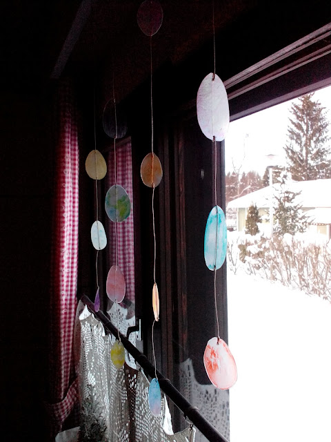 Easter window decoration