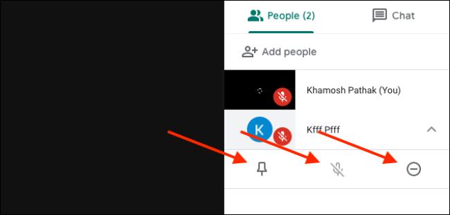 يدير الأشخاص والمشاركون ميزة في Google Meet