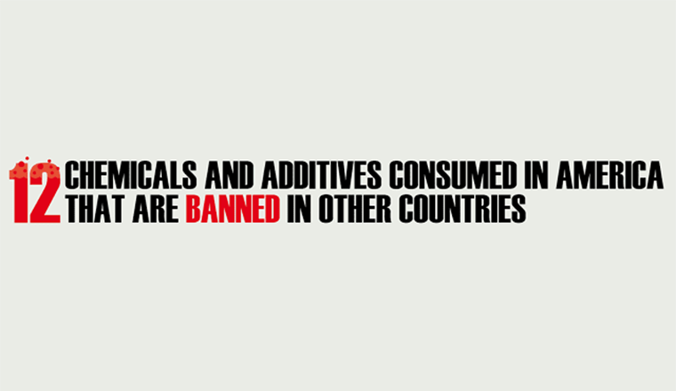 12 Chemicals And Additives Consumed In America That Are Banned In Other Countries #infographic
