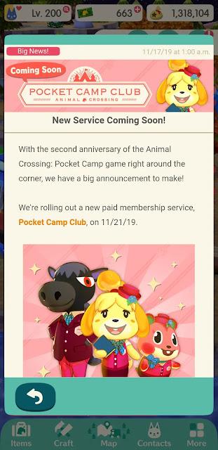 Animal Crossing: Pocket Camp (Mobile) receberá sistema de assinatura paga