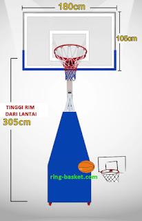 Ring Basket Portable untuk sekolah