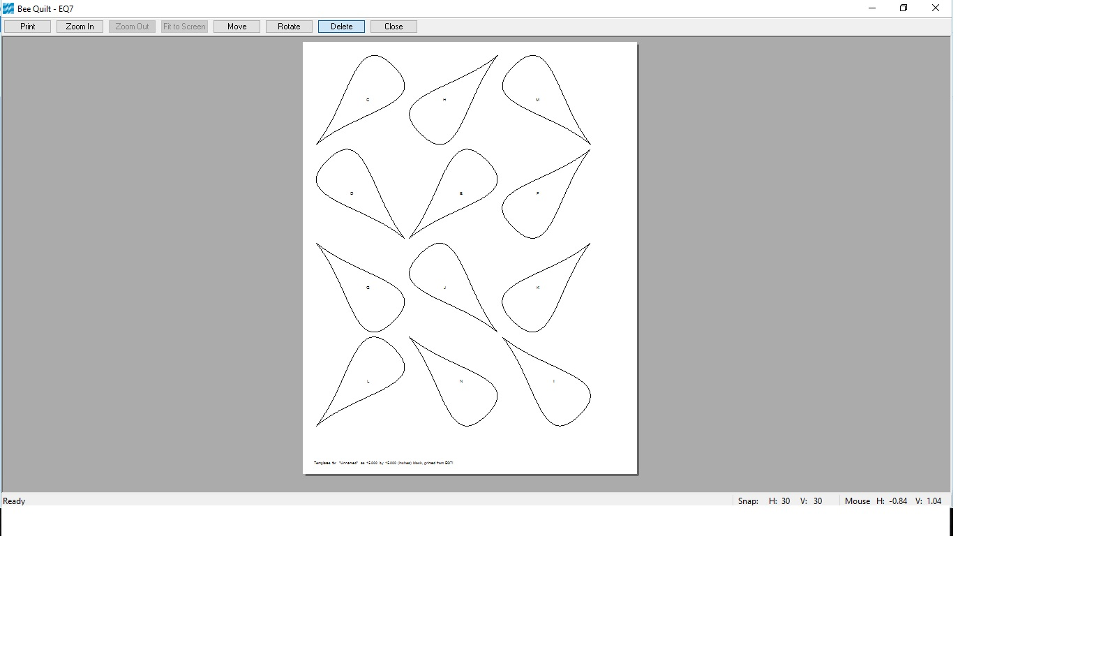 Pamelaquilts: EQ25 - Using EQ7 to print templates for Applique