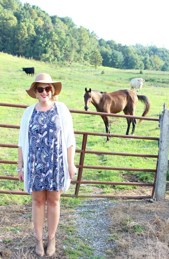 Julie Leah: Navy Swing Dress