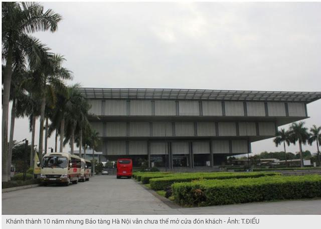 10 năm sau khánh thành, bảo tàng Hà Nội vẫn chưa thể mở cửa đón khách