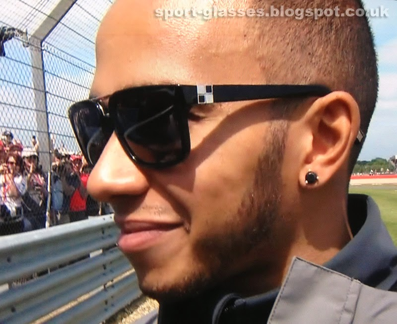 Lewis Hamilton wearing Louis Vuitton Suspicion Sunglasses at the 2013 British GP