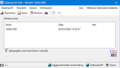 Come salvare il layout del desktop con DesktopOK