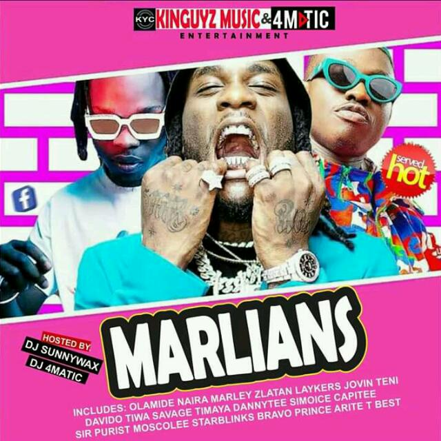 Mixtape: DJ Sunnywax Ft. DJ 4matic - Marlians Mix @djsunnywax01 @dj4maticpro