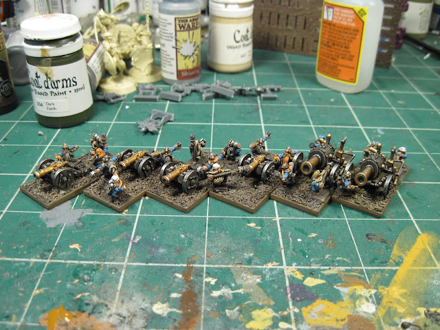 Warmaster Dwarf Artillery