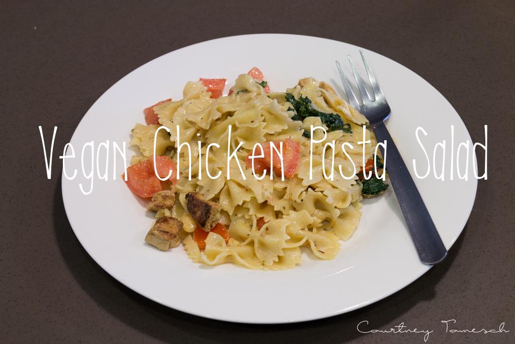 Courtney Tomesch Vegan Chicken Pasta Salad