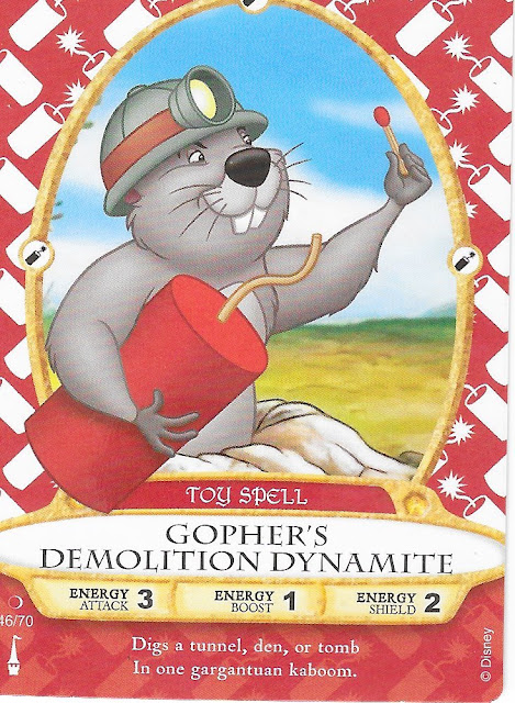Gopher's Demolition Dynamite Spell Card Sorcerers of the Magic Kingdom 56/70