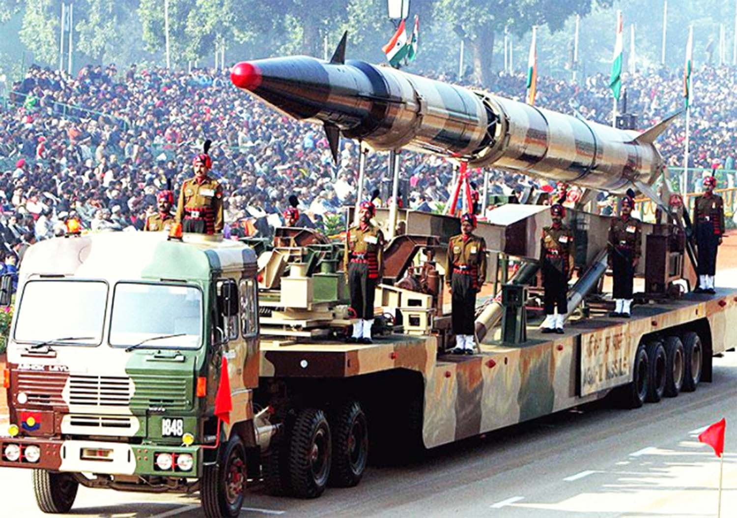 Army missile show parade on republic day