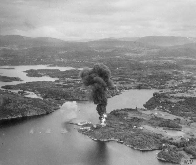 7 August 1940 worldwartwo.filminspector.com Fleet Air Arm Dolvik Bergen raid