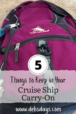 5 things to pack in your cruise ship carry on