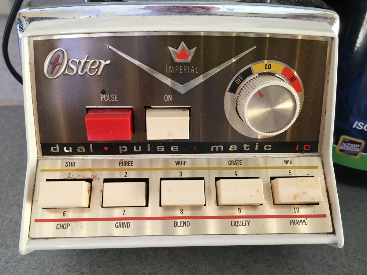 small resolution of 35 blender button puree one of many verb options on this old oster