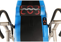 Exerpeutic 275SL Inversion Table's heat/vibration massage lumbar support, image