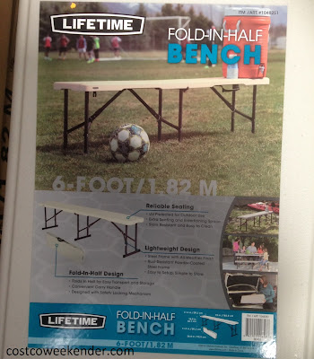 Costco 1048251 - Lifetime Folding Bench: great for backyard parties and bbq's