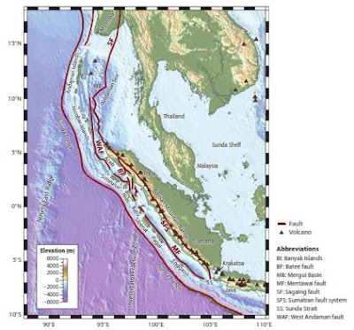 Sumatra Physiography Map