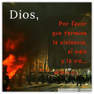 Oración por la Violencia en las Calles
