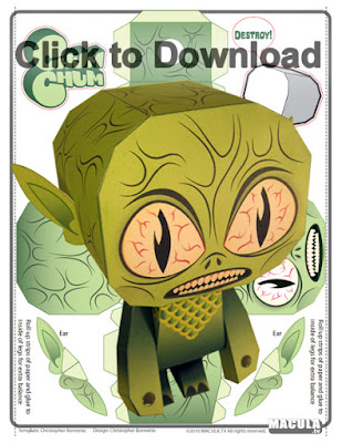 Zombie paper craft printable